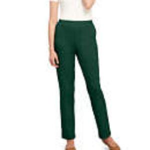 Lands' End Cotton Knit Pullon Pants Size Large NWT